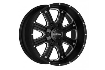 Pro Comp Alloy Wheels Series 5182, 17x9 with 6 on 5.5 and 6 on 135 Bolt Pattern  - Matte Black Machine 5182-7939 Pro Comp Xtreme Alloy Wheels