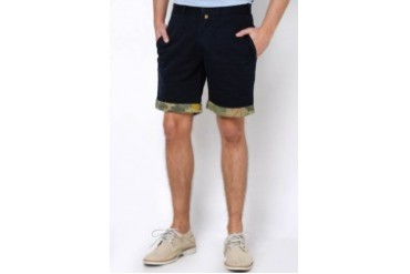 Native Youth NAVY CAMO CONTRAST SHORTS