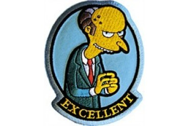 Excellent Mr.Burns Simpsons Patch