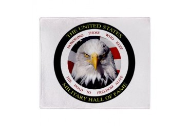 US Military Hall of Fame Stadium Blanket Military Throw Blanket by CafePress