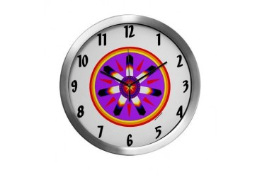EAGLE FEATHER MEDALLION Native american Modern Wall Clock by CafePress