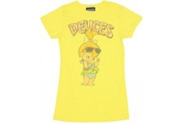 Flintstones Pebbles Deuces Baby Doll Tee by JUNK FOOD