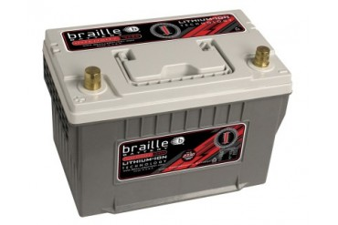 Braille Lithium Ion Intensity Starting Battery 2330 Amp 11 x 7 x 8 inch Right Positive BCI 34