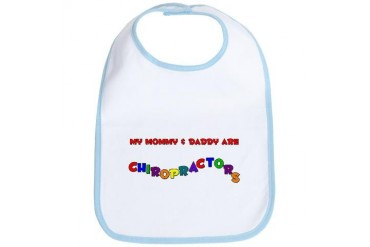 Mommy Daddy Chiros Daddy Bib by CafePress