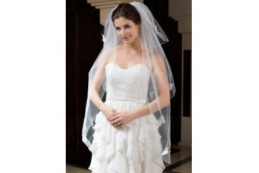 Three-tier Fingertip Bridal Veils With Pencil Edge (006035788)