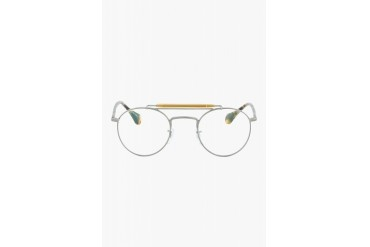 Oliver Peoples Tan Tortoiseshell Round Optical Soloist Glasses