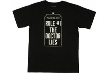 Doctor Who Rule #1 The Doctor Lies TARDIS T-Shirt