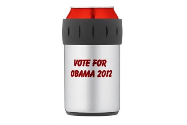 Thermos Can Cooler Obama Thermosreg; Can Cooler by CafePress