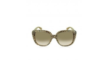 LALLY/S S89JD Oversize Leopard Print Acetate Sunglasses