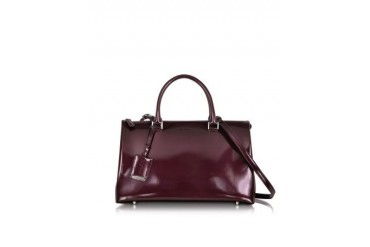 Purple Patent Leather Medium Jil Bag