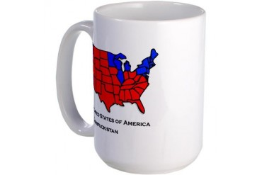 USA Dumbfuckistan Election Map Large Mug