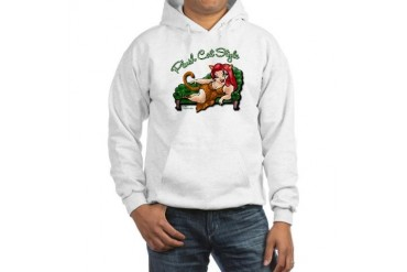 quot;Catrina Catquot; white Cat Hooded Sweatshirt by CafePress
