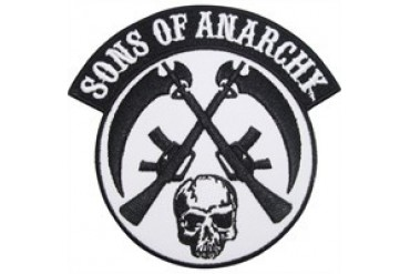 Sons of Anarchy Skull Crossed Guns Logo Patch