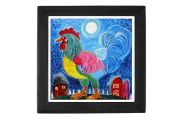Rooster on Parade Rooster Keepsake Box by CafePress