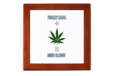Legal Leaf Marijuana Keepsake Box by CafePress