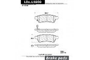 2005-2012 Nissan Frontier Brake Pad Set Centric Nissan Brake Pad Set 102.11000
