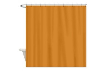 Ancient Orange Orange Shower Curtain by CafePress