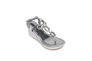Pewter Wedge Sandals