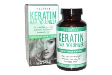 Neocell Keratin Hair Volumizer 60ct Tablets Strength Shine for Dry Thin