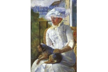Young Girl At A Window 1883 Poster Print by Mary Cassatt (12 x 18)
