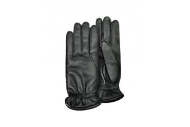 Men's Black Deerskin Leather Gloves w/ Cashmere Lining