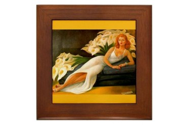Diego Rivera Natasha Art Mexican Framed Tile by CafePress