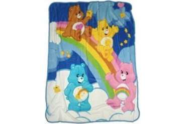 Care Bears Rainbow Slide Fleece Throw Blanket