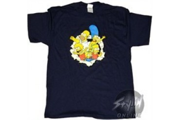 Simpsons Group Explosion T-Shirt