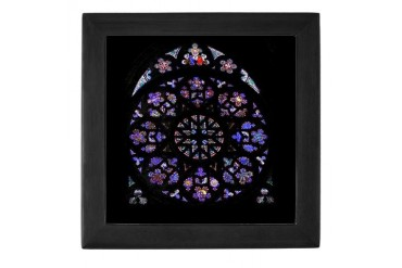 St Vitus Rose Window Castle Keepsake Box by CafePress
