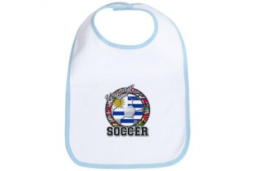 Uruguay Flag World Cup Soccer Ball with World Flag Soccer Bib by CafePress