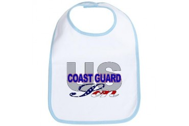 US Coast Guard Son Military Bib by CafePress