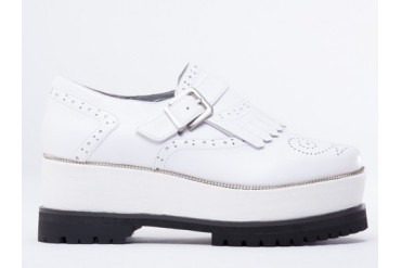 Senso Geoffry in White Calf size 8.0