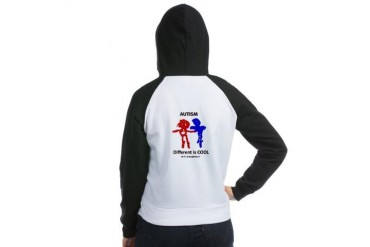 Autism Different is Cool Autism Women's Raglan Hoodie by CafePress