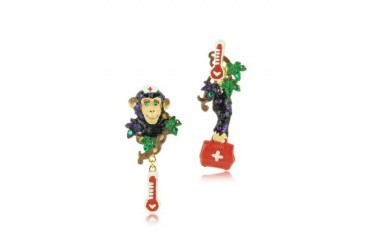 Les Mechamment Joyeux - Nurse Bobette Long Earrings