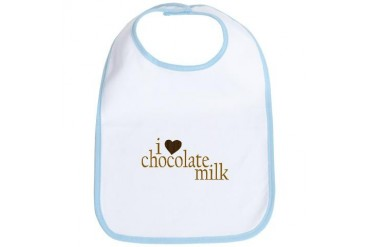 I Love Chocolate Milk Funny Bib by CafePress