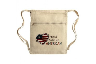 Proud American Sack Pack Holiday Cinch Sack by CafePress