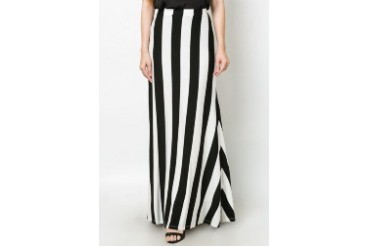 Vertical Rugby Stripe Maxi Skirt