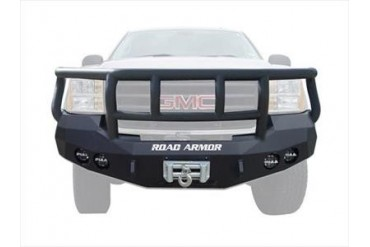 Road Armor Front Stealth Winch Bumper with Titan II Guard in Satin Black 37402B Front Bumpers