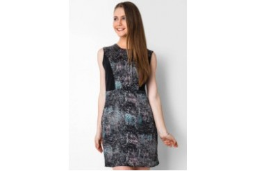 Urban Twist Abstrack Mini Dress