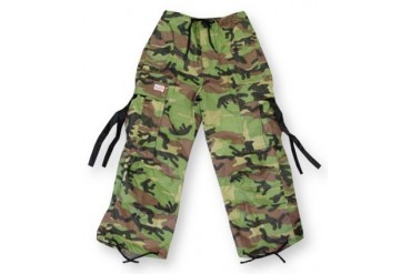 Kids Unisex Basic UFO Pants (Green Camo)