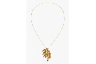 Aurlie Bidermann Gold Plated Wheat Head Twisted Chain Necklace
