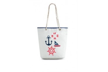 EZRA by ZALORA Canvas Nautical Cruise Tote