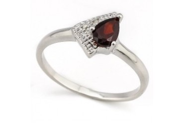 Magnificent ! 2 5 Carat Garnet amp Diamond 925 Sterling Silver Ring