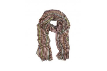 Green Signature Check Men's Scarf