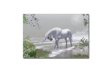 Unicorn Moonrise Postcards 8 Unicorn Postcards Package of 8 by CafePress