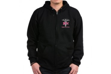 Registered Nurse Zip Hoodie (dark)