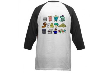 Friendly Friends Friends Baseball Jersey by CafePress