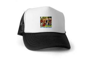 Off With Her Head Baby Trucker Hat by CafePress