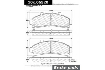 1995-2001 Ford Explorer Brake Pad Set Centric Ford Brake Pad Set 106.06520 95 96 97 98 99 00 01
