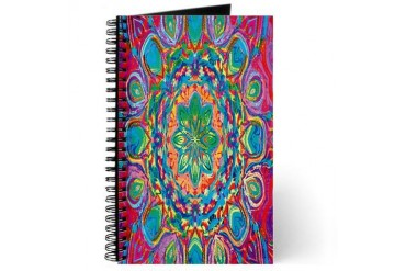 Painted Flower Abstract art Journal by CafePress